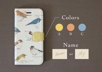 野鳥の手帳型スマホケース*カスタマイズ可