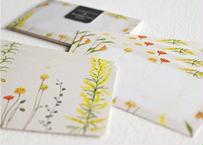 黄色い花たちのメッセージカード