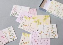 明るい花たちのメッセージカードBOX
