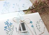 ブルーの花たちのレターセット