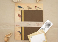 野鳥の図鑑風レターセット