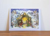 封筒付きアドベントカード「生誕の夜」 (ポストカードサイズ/内側メッセージ記入可))