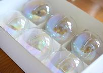 ガラス玉オーナメント「アイリス」 6個セット (サイズ:φ70mm)