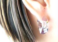 Tourmalized Quartz Rock Pierced Earring