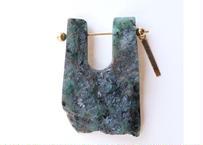 Emerald  Rock Pierced Earring