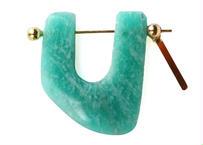 Amazonite Rock Pierced Earring