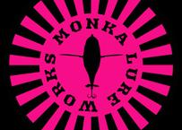 MONKA  LURE WORKSステッカー(ピンクサークル)