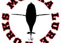 MONKA  LURE WORKSステッカー (ホワイトサークル)