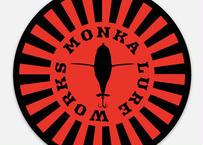 MONKA  LURE WORKSステッカー(レッドサークル)