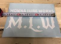 MONKA  LURE WORKSカッティングステッカー (ホワイト)