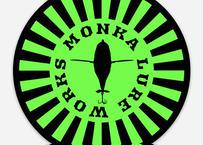 MONKA  LURE WORKS ステッカー(グリーンサークル)