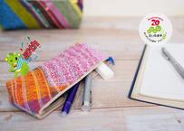 さいたま市誕生20周年記念 空想庭園織りを使ったペンケースになる小物入れ