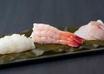 昆布締め(甘海老・あおりいか・白身魚)1種入り
