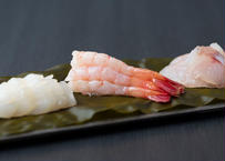 昆布締め(甘海老・あおりいか・白身魚) 2種入り