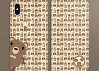 19-04TNBo*サンビキノクマの帯なし手帳型スマホケースB