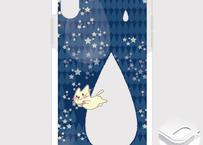 A*iPhone XR/X/XS/8/7*1912x*月光雨のねこ*しずく*クッションバンパーケース