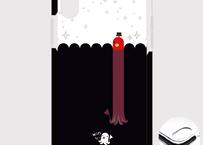 A*iPhone XR/X/XS/8/7*1914Dx*たこさんwinなーの雑踏_キラキラ*クッションバンパーケース
