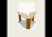 三角テーブル Smile60°Sサイズ 【コロナ対策型】シールドスクリーン  付き