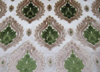 モロッコインテリア生地「ダマスクグリーン」55×141cm一点限り