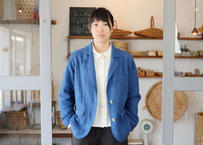 エシカルヘンプジャケット type S 正藍染め藍色