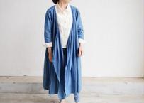 エシカルヘンプカシュクールドレス 正藍染め藍色