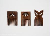 毎日髪を梳かしましょう。紫檀の櫛  Sサイズ|北インド
