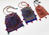 インドの刺繍 巾着バッグ|グジャラート州カッチ