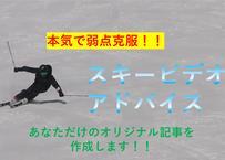 【あなただけのブログ記事作成!】スキービデオアドバイス 1回券