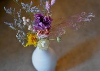 Flower vase & Dryflower set(花瓶とドライフラワーのセット)