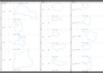 福井県:H31年行政区域地図のオートシェープ図形