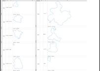 和歌山県:H31年行政区域地図のオートシェープ図形