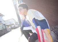 【受注生産受付中】リボン女と糸男のオーバーニット / nisai