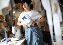 """よせあつめのほつれ愛、Tシャツ """"青の七日間"""""""