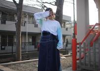 """十二ヶ月色彩記録の手刷りのロンT """"青の記録"""""""