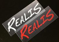 REALIS ロゴ転写シール(レッド・ホワイト)42×140mm