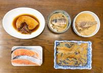 F【お歳暮の定番】トロかじき(2切)塩鮭(2切)銀だら味噌漬(500g)さば味噌(カミ1切・シモ1切)