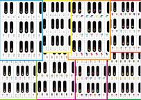 ~♪8枚セット(さがる)ピアノ鍵盤の半音階の12音を線で結んでいこう♪~