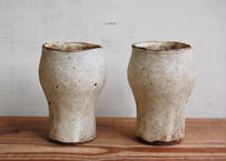 手びねりビアカップ/花器 茶