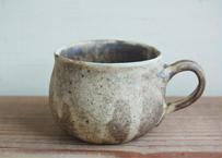 OUTLET品 手びねり 幅広マグカップ 小 焦げ茶