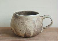 手びねり丸マグカップ 焦げ茶 ぽってり