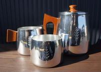 Vintage SONA Coffee Set Stainless  Steel