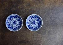古物/花紋印判皿(4寸)1枚