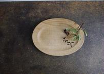 cava craft/楕円リム皿(クリ)22.5cm