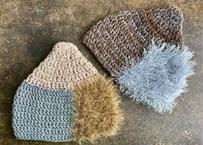 sinsin|s/s カラフルニット帽〈グリーン×茶系/茶×シルバーグレー〉