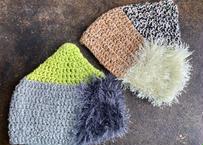 sinsin|s/s カラフルニット帽〈グリーン系/茶系〉