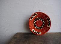 ウガンダ|手編み籠(朱色)26cm