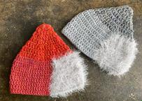 sinsin|s/s カラフルニット帽〈オレンジ系/グレー系〉