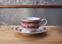 古物/小花のカップ&ソーサー