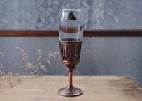古物/銅と硝子グラス18cm