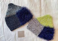 sinsin|カラフルニット帽〈ネイビー/グリーン〉